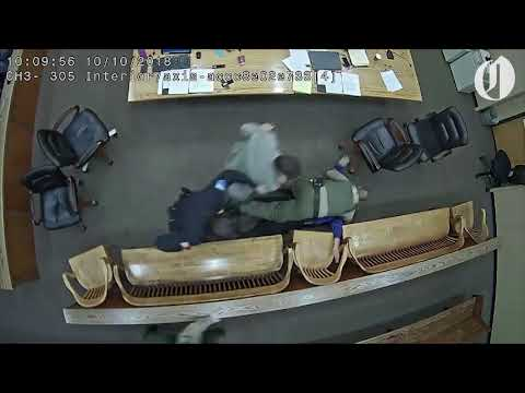 Weird News - Shocking Video Captures Defendant Trying To Grab Cops Gun In Court