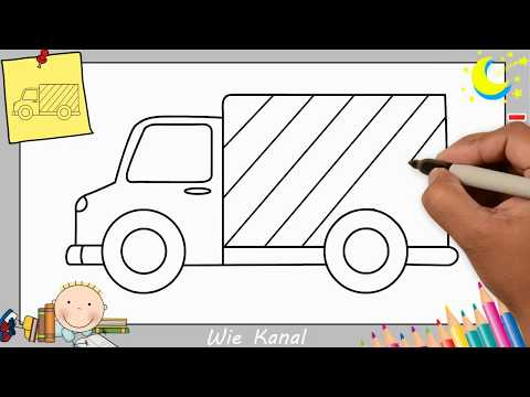 Lkw Zeichnen Lernen Einfach Schritt Für Schritt Für Anfänger
