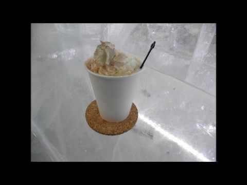 然別湖の美しい氷で作られたコタン