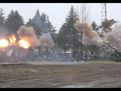 【自衛隊音楽隊】主力火砲FH-70が楽器に -エヴァンゲリオン「DECISIVE BATTLE」他