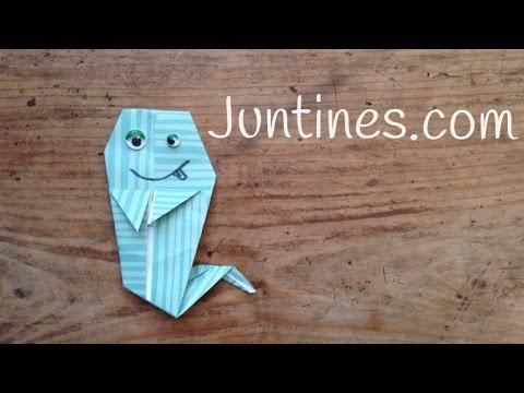 Cómo hacer un fantasma de origami paso a paso ¡Es muy simpático!