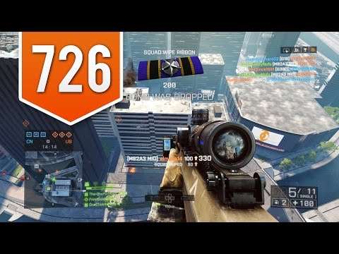 BATTLEFIELD 4 (PS4) - Road to Max Rank - Live Multiplayer Gameplay #726 - EPIC SNIPER KILLS!