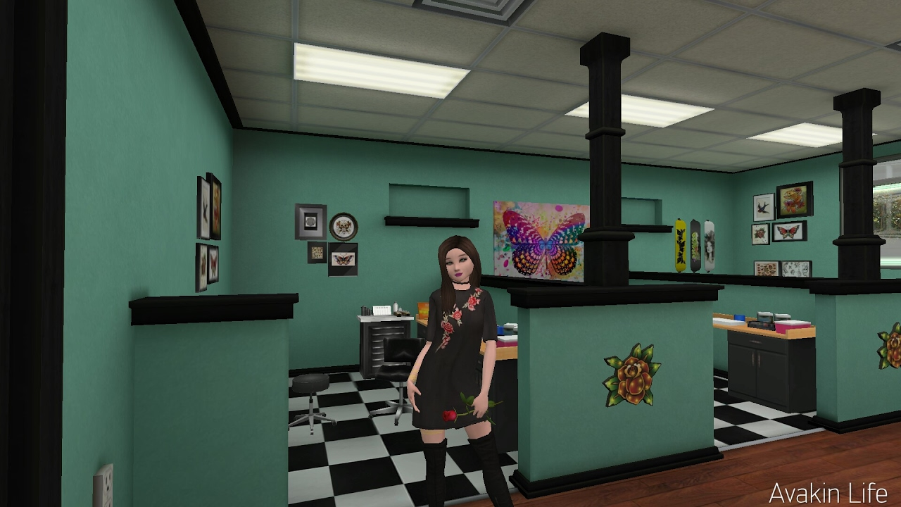 avakin life l a tattoo studio tour youtube. Black Bedroom Furniture Sets. Home Design Ideas