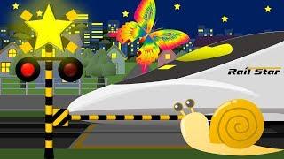 子供が好きな曲がながれる踏切・電車アニメ | railway crossing is playing music thumbnail