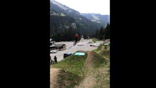 Biker Winds Up With A Big Crash Attempting A Dirt Ramp Jump