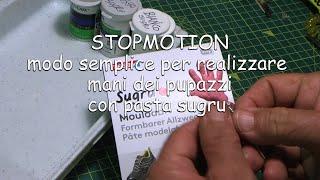 stopmotion, mani dei pupazzi con pasta sugru modo semplice per realizzarle