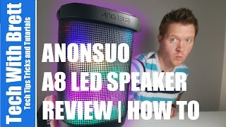 Anonsuo A8 Portable Bluetooth Speaker Review