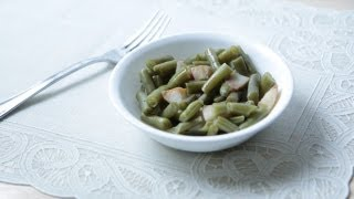 No Meat Green Beans Recipe (9.7.12 - Day 26) How to cook southern vegetables without meat?