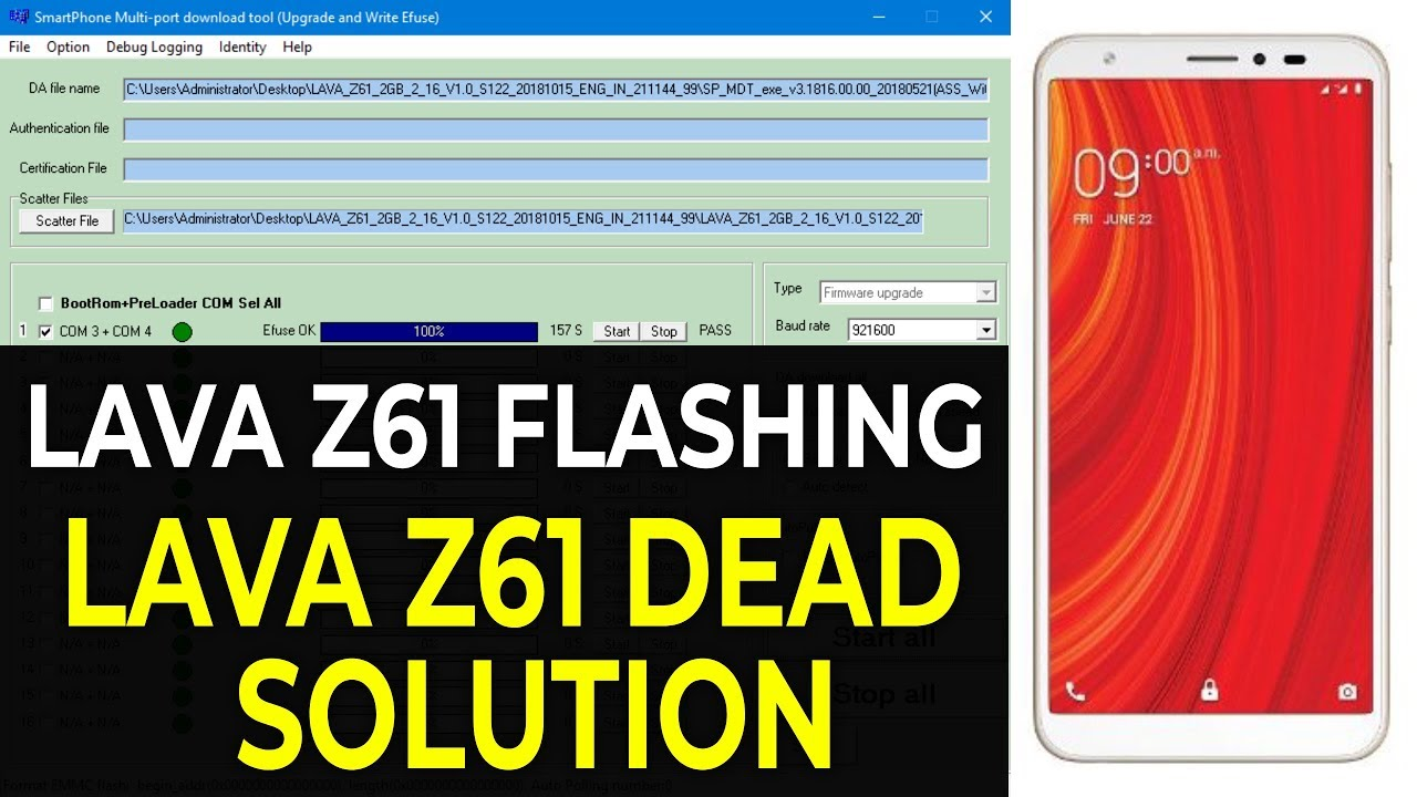 Lava Z61 (1 GB & 2 GB) Tested Flash File (Stock Rom