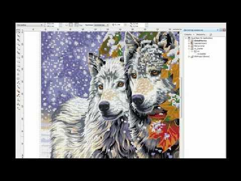 Как создать схему для вышивания Corel DRAW   Волки