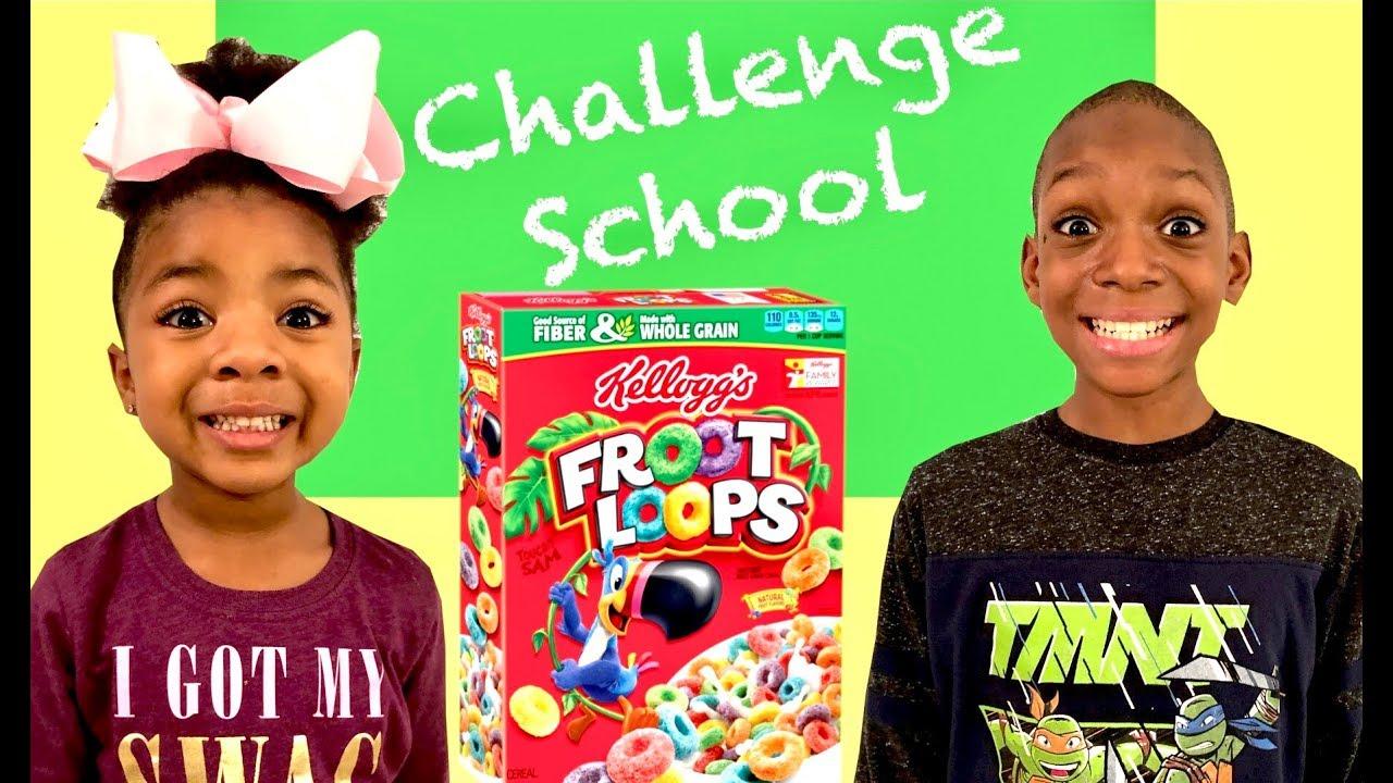 Cereal Challenge Guess The Cereal Slime Challenge Challenge School Best Toy School