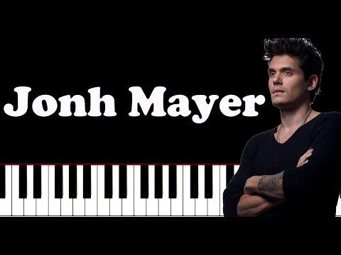 John Mayer -  New Light Piano Tutorial Midi\Sheet Music