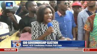 Edo Governorship Election: WAEC GCE Candidates Protest Poll Date