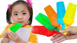 Color Song Nursery Rhymes with Ice Cream Fruit | Action Song with Sister and Brother