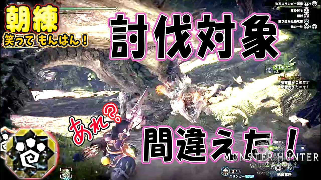 【MHW】HR29 おばぁハンターの朝練!! 討伐対象間違えた!