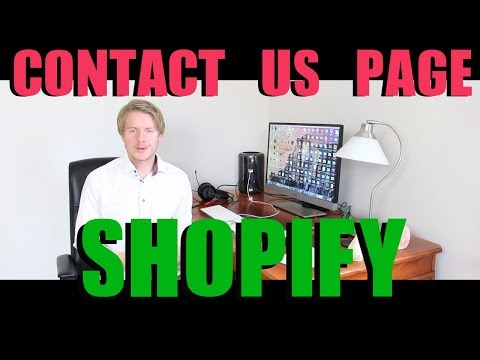 How to Add Contact Us Page on Shopify 2018