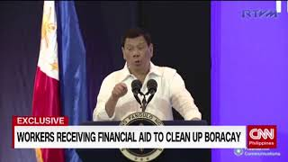 [EXCLUSIVE] Workers receiving financial aid to clean up Boracay