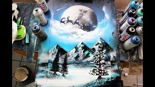 Christmas midnight - SPRAY PAINT ART - by Skech