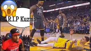 DeMarcus Cousins bodied Kuzma OMG!!! LA Lakers vs Golden State Warriors Highlights  | REACTION
