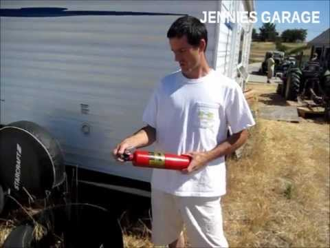 Fun With A 38 Year Old ( Fire Extinguisher ) Discharge Cloud & Wasp Spray