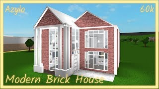Roblox | Bloxburg: Modern Brick House TOUR (60K)