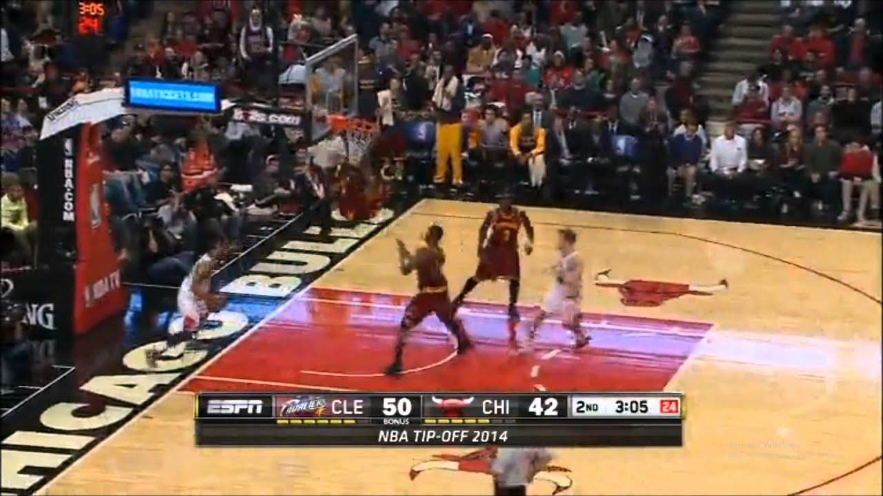 LeBron James Dunk Cavs Vs Bulls