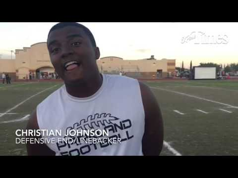 Parkland defensive end Christian Johnson talks about getting offer to play football at UTEP.