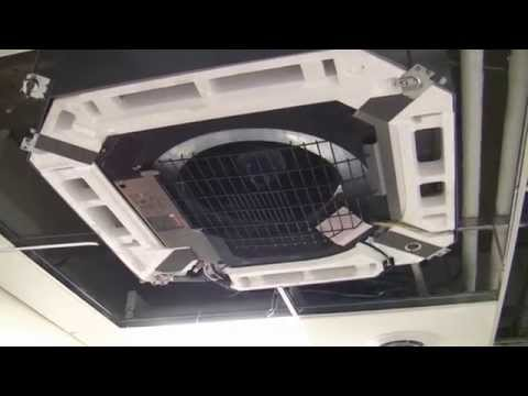 daikin vrv-s flat ceiling cassette ductless split ac & heat pumps - youtube