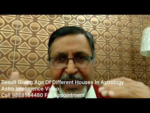 Results Giving Age Of Different Houses In Astrology