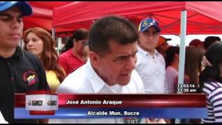 Municipio Sucre brindó homenaje a Comandante Eterno
