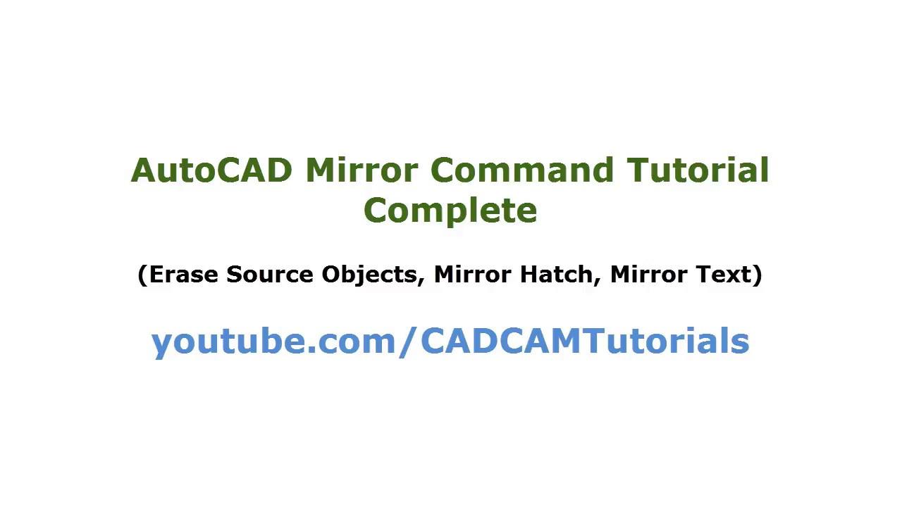 AutoCAD Mirror Command Tutorial Complete | Mirror Text Reverse, Upside  Down, Mirror Hatch, Mirrtext