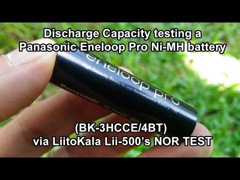 Discharge Capacity testing Eneloop Pro Ni-MH battery