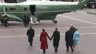 Trump, Obama depart inaugural ceremony