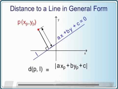 Distance Point to Line in General Form - ZeGenie.com - YouTube