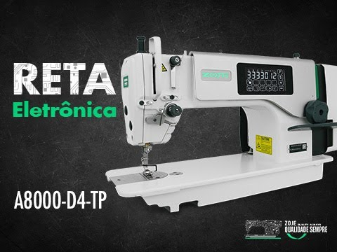 COSTURANDO BARRA NA RETA ELETRÔNICA A8000 !!!