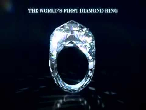 The worlds first all diamond ring YouTube