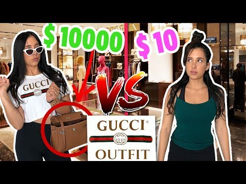 10$ vs $10000 OUTFIT TO THE GUCCI STORE - I WAS CHASED OUT!   Mar