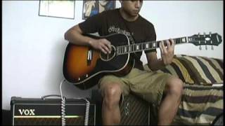 The Beatles - Twist and Shout acoustic electric guitar cover
