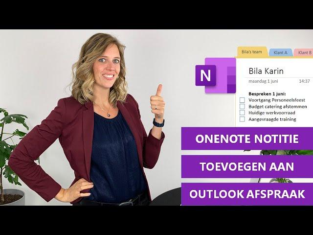OneNote notities maken en delen vanuit je Outlook vergadering