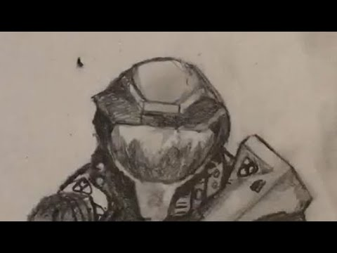 Drawing Halo Ce Master Chief