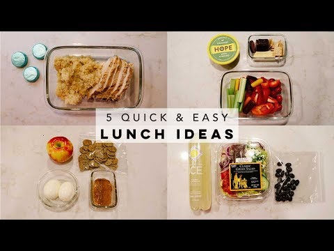 5 GLUTEN FREE LUNCH IDEAS FOR WORK OR SCHOOL | QUICK AND EASY