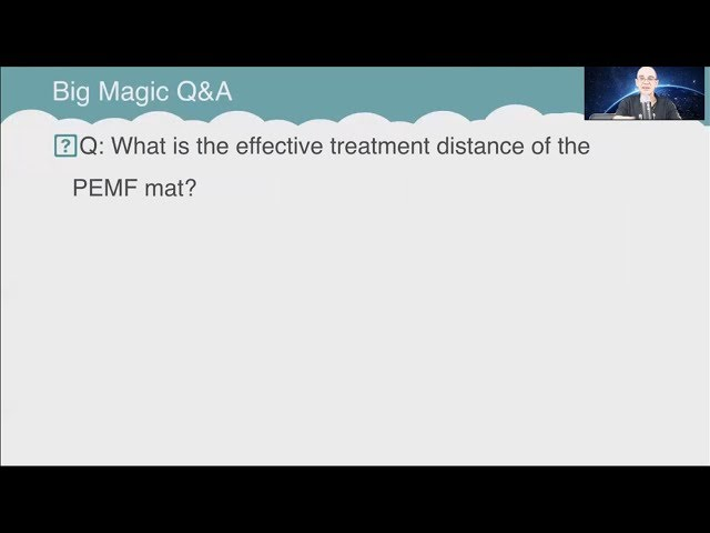Q&A: What is the effective treatment distance of the PEMF mat?