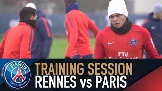 TRAINING SESSION - ENTRAINEMENTS - RENNES vs PARIS SAINT-GERMAIN