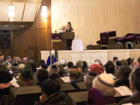 Caroline Glick at the Great Synagogue in Jerusalem