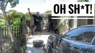 He got ATTACKED While Mounting Tires for the Driftvette!