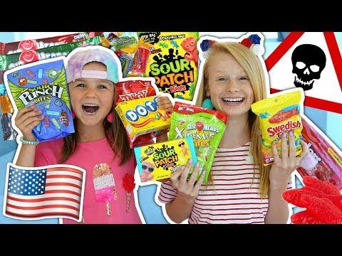 BRITISH KIDS TRY AMERICAN CANDY! 🍬🍭 *eww*