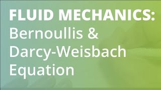 Head Loss, Bernoullis & Darcy–Weisbach Equation | Fluid Mechanics