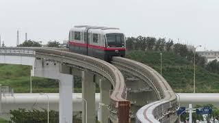 沖縄都市モノレール1000形 那覇空港駅到着 Okinawa Urban Monorail 1000 series EMU
