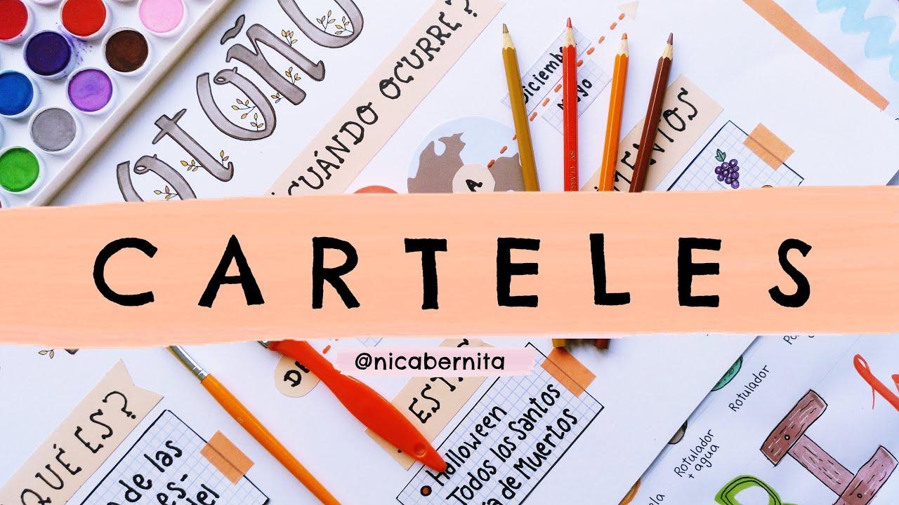 Cómo Hacer Carteles Para Exposiciones Letras Bonitas Para Títulos Grandes