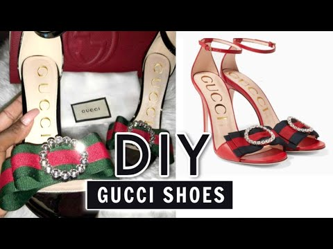 DIY Gucci Inspired Shoes - YouTube